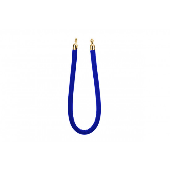 Stanchion Blue Rope (Gold)