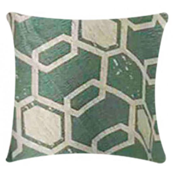 Pillow Hex - Seafoam
