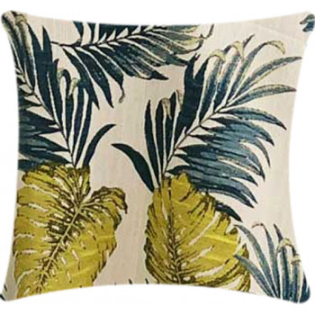 Pillow Tahiti - Teal/Lime