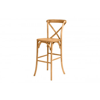 CrossBack Barstool (Wood)