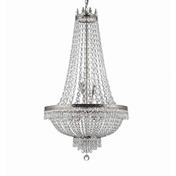French Silver Chandelier