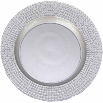 Art Deco Charger Plate (Silver)