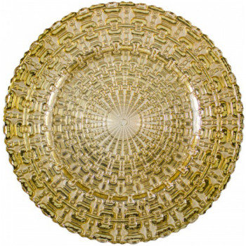 Chains Charger Plate (Gold)
