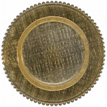 Glass Plus Beaded Charger Plate