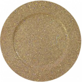 Glitter and Stars Charger Plate (Gold)