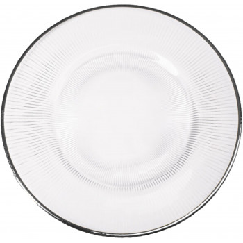 Richland Charger Plate (Silver Trim)