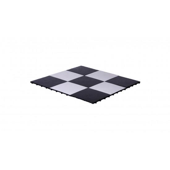Dance Floor Black and White 1'x1' (Snap Lock)