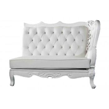 Empress Sofa (Right Corner Piece) (White)
