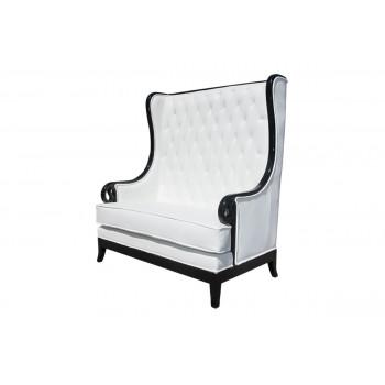 Empire Love Seat (Black-White)