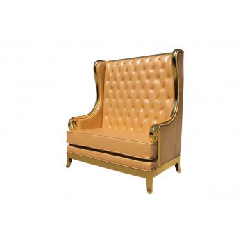 Empire Love Seat (Gold)