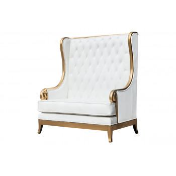 Empire Love Seat (Gold-White)
