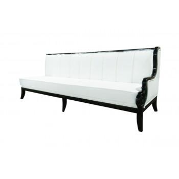 Empire Sofa (Black-White-lines)(Left Arm)