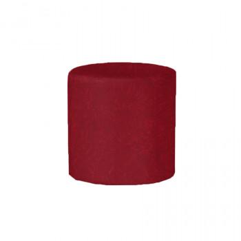 Velvet Ottoman Round (Red)