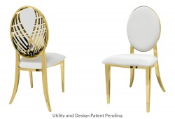 Crystal Swan Chair (Gold)