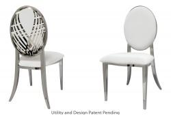 Crystal Swan Chair (Silver)