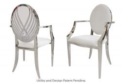 Crystal Swan Armchair (Silver)