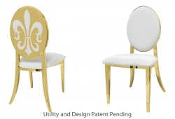 Fleur-de-lis Chair (Gold)