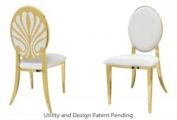Nouveau Shell Chair (Gold)
