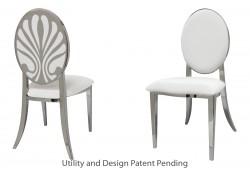Nouveau Shell Chair (Silver)