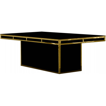 Reflection Dining Table Modern (Gold) (Black)