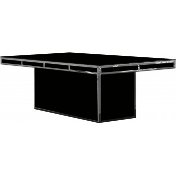 Reflection Dining Table Modern (Silver) (Black)