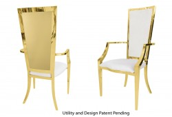 Rectangular Armchair (Gold)