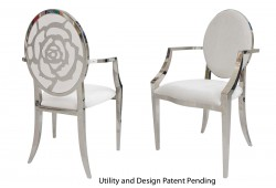 Rose Armchair (Silver)