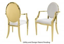 Round Armchair (Gold)