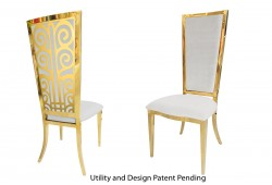 Valentino Chair (Gold)