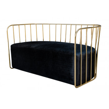 Reflection Sofa (Bars) (Gold-Black)