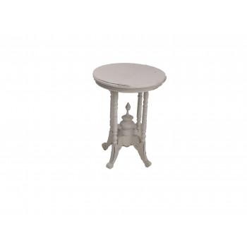 Vintage Acadia End Table (White)