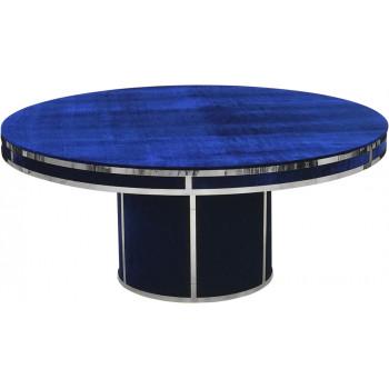 Velvet Dining Table Round (Silver Frame)(Royal)