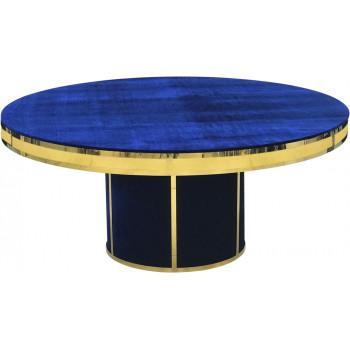 Velvet Dining Table Round Solid (Gold Frame)(Royal)