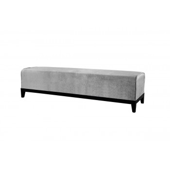 Velvet Bench (Silver)