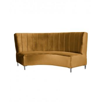 Velvet Curve Sofa 9' (Gold)