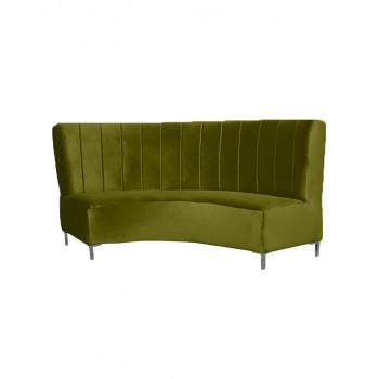 Velvet Curve Sofa 9' (Olive)