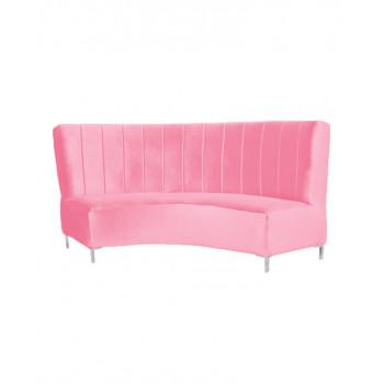 Velvet Curve Sofa 9' (Pink)