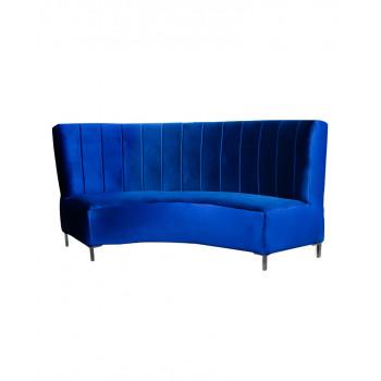 Velvet Curve Sofa 9' (Royal)