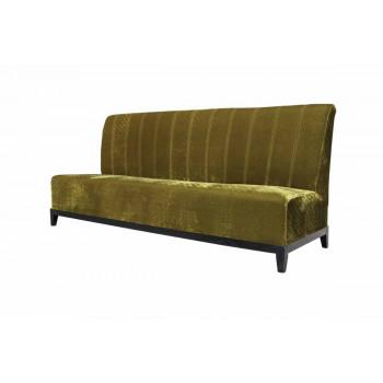 Velvet Sofa 7' with Lines (Olive)