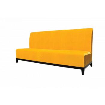 Velvet Sofa 7' with Lines (Yellow)
