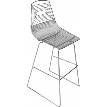 Wire Barstool (Silver)