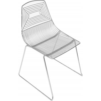 Wire Chair (Silver)