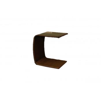 Rattan End Table (C-Shape) (Mocha)