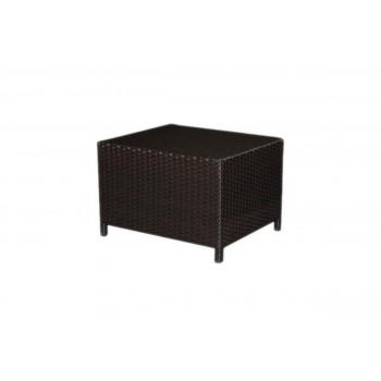 Rattan End  Table (Rectangular) (Mocha)