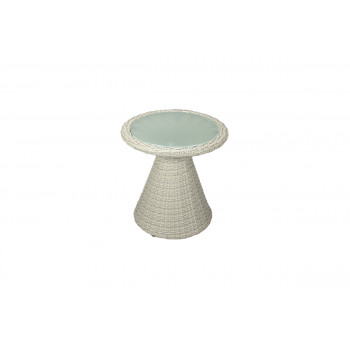 Rattan End Table (Round) (Sand)