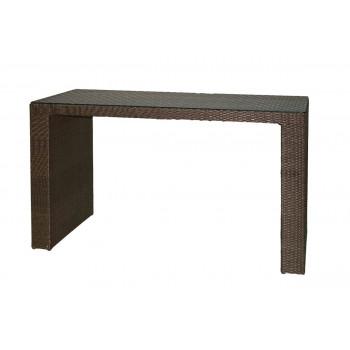 Rattan Highboy Table (Rectangular) (Mocha)