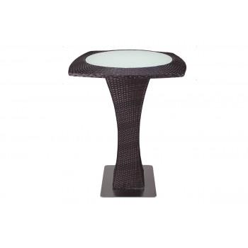 Rattan Highboy Table (Round) (Mocha)