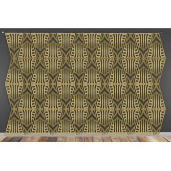 Laser Cut Wall (Art Deco Design) Gold
