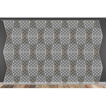 Laser Cut Wall (Circle Design) Silver