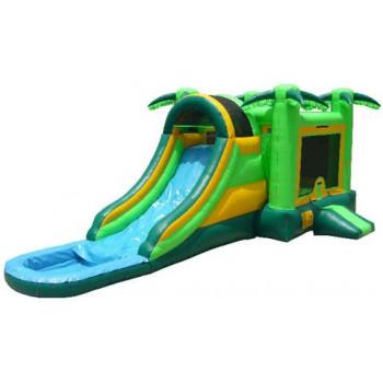 Jungle 4x1 Water-slide Castle 15'x32